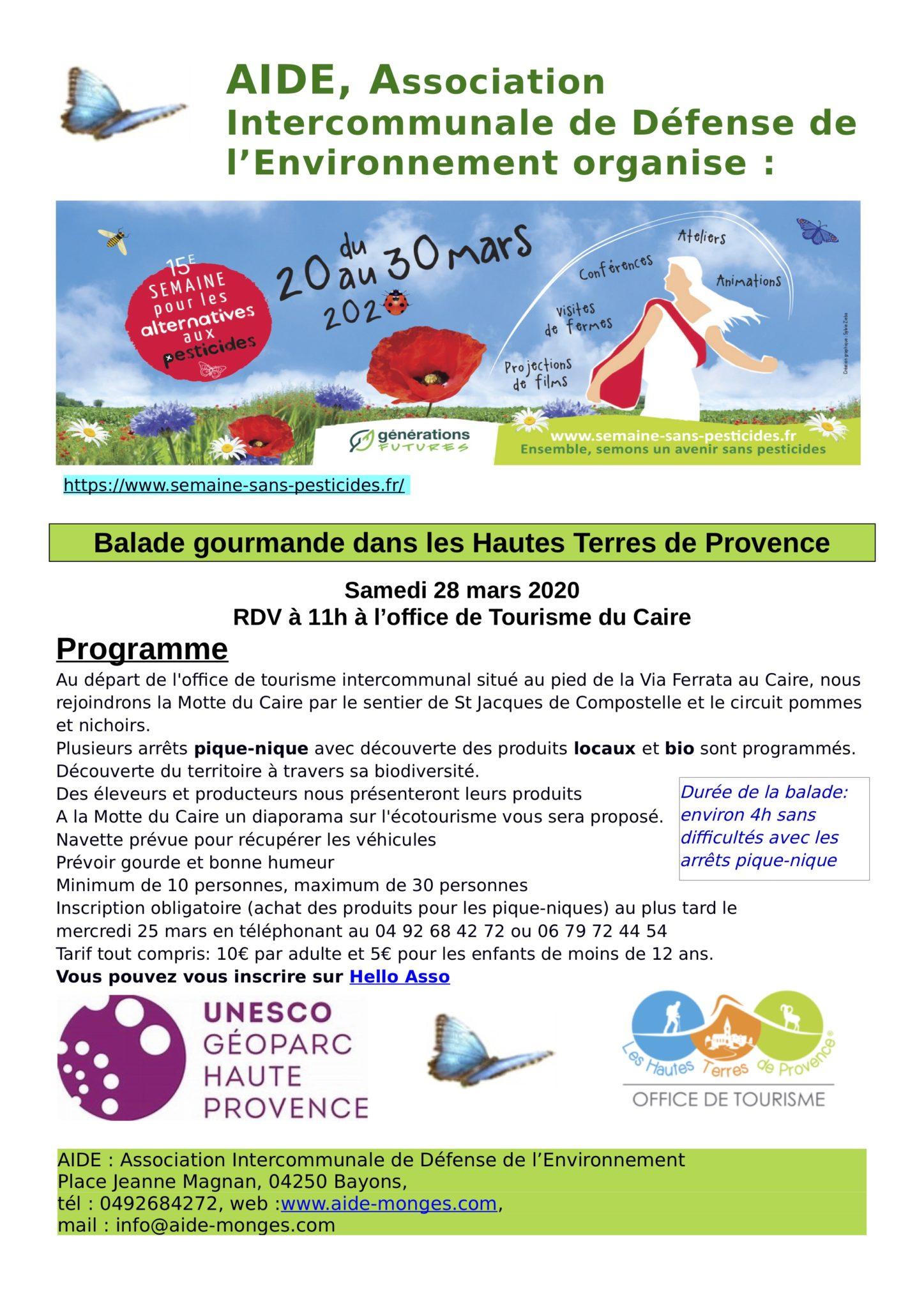 semaine sans pesticide 2020, proposition Alain 5